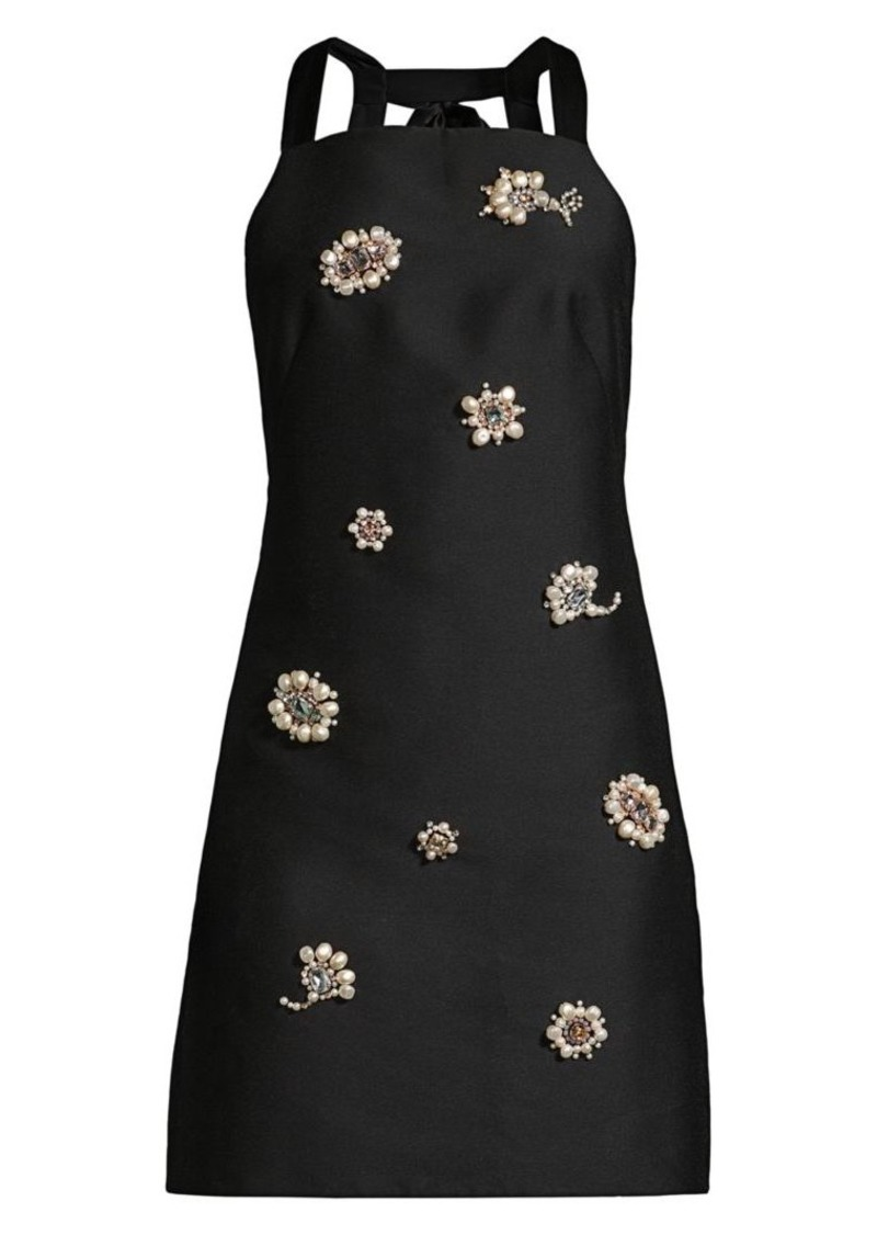 Kate Spade Floral Embellished Mini Apron Dress