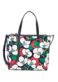 Kate Spade floral medium satchel
