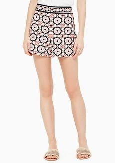 Kate Spade floral mosaic jacquard short