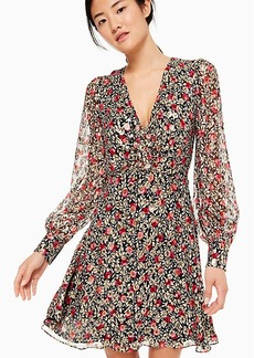 Kate Spade floral park clip dot mini dress