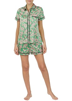 Kate Spade floral-print charmeuse shortie pajama set