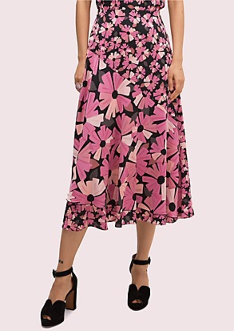 Kate Spade floral satin skirt