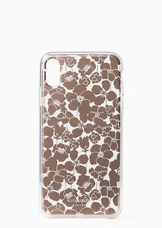 Kate Spade floret clear iphone xs max case