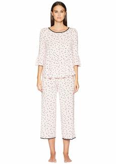 Kate Spade Flounce Long Sleeve Pajama Set