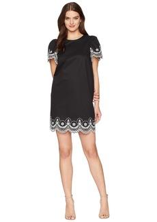 Kate Spade Flutter Sleeve Cutwork Dress