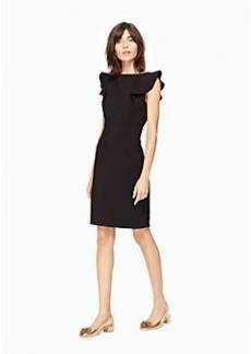 flutter sleeve sheath dress