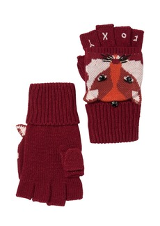 Kate Spade fox pop top mittens