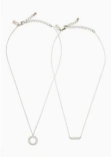 Kate Spade full circle pendant set