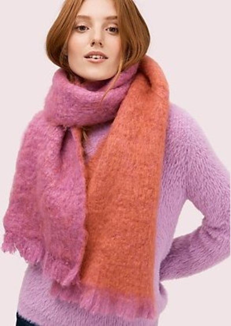 Kate Spade fuzzy woven scarf