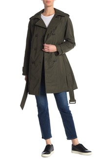 Kate Spade Gabardine Double Breasted Trench Coat