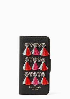 Kate Spade gem tassel folio iphone 7 case