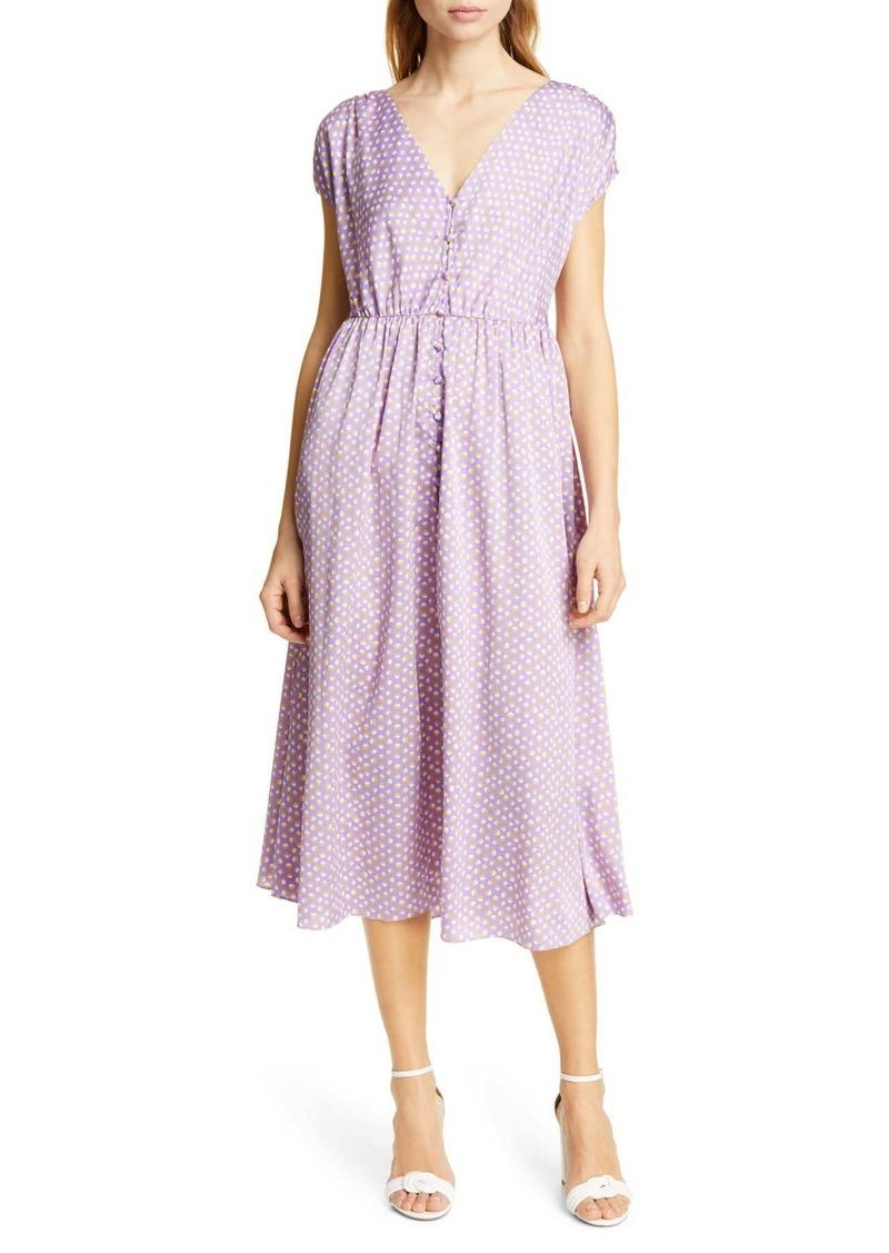 Kate Spade geo dot midi dress