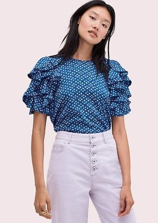 Kate Spade geo dot satin top