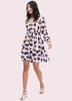 Kate Spade geo squares mini dress