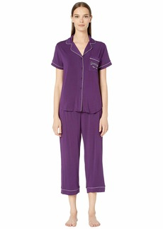 Kate Spade Get Comfortable Modal Spandex Short Sleeve Capris PJ Set