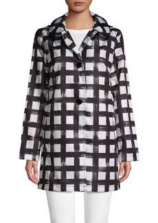 Kate Spade Gingham Long-Sleeve Raincoat