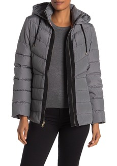 Kate Spade Gingham Hooded Puffer Jacket