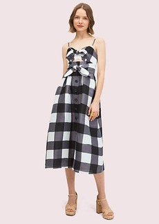 Kate Spade Gingham Tie Front Dress