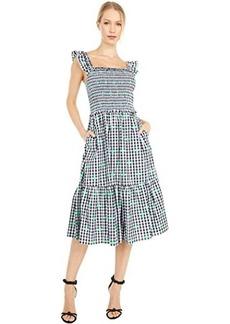 Kate Spade Gingham Voile Smocked Dress