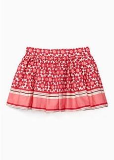 girls' floral tile skirt