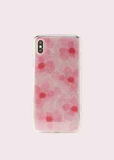 Kate Spade glitter abstract peony iphone xs max case