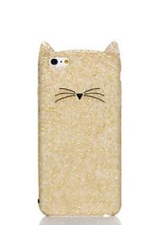 Kate Spade glitter cat iphone 6 plus case
