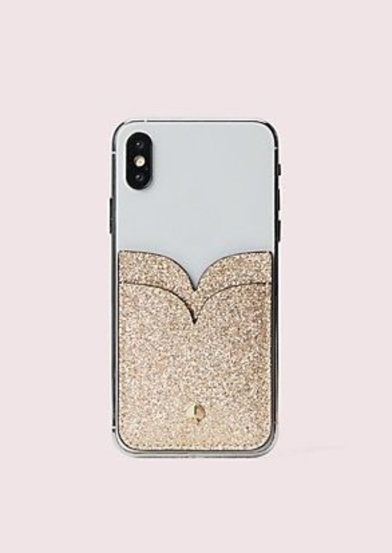 Kate Spade glitter double sticker pocket