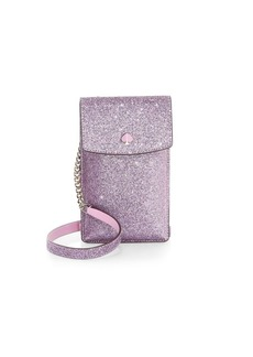 Kate Spade Glitter Leather Crossbody iPhone Case