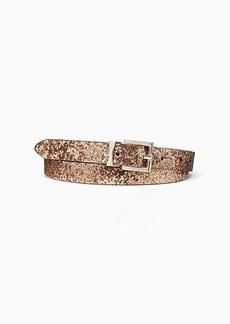 Kate Spade glitter leather reversible belt