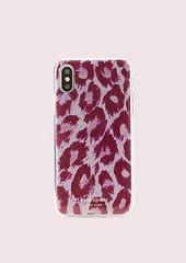 Kate Spade glitter panthera iphone xs case