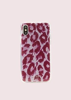 Kate Spade glitter panthera iphone xs case