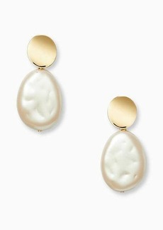 Kate Spade gold standard large pearl drop earrings