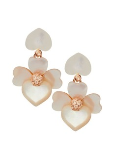 Kate Spade Goldtone Cubic Zirconia Floral Drop Earrings