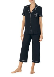 Kate Spade goodnight cropped pajama set