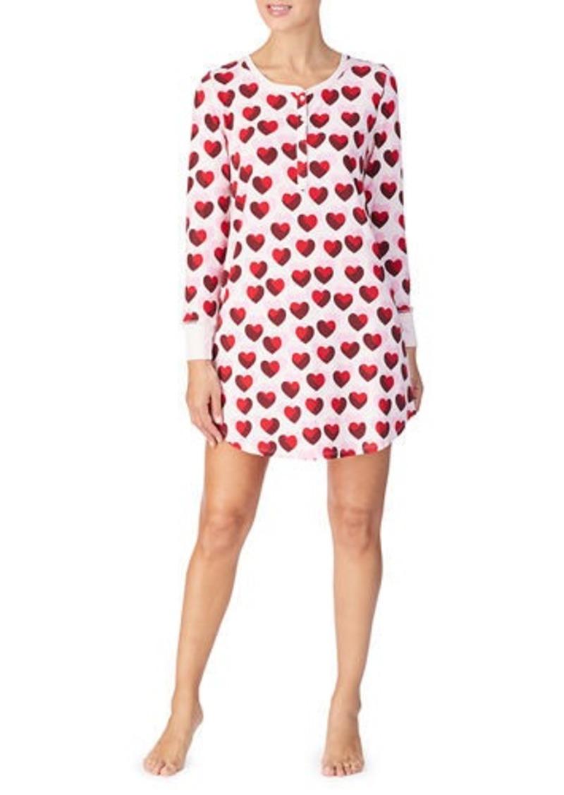 Kate Spade graphic-print brushed jersey sleepshirt