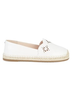 Kate Spade Grecian Leather Slip-On Espadrilles