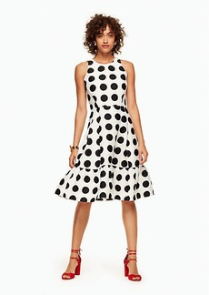 Kate Spade grid dot flounce dress