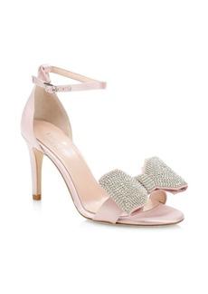 Kate Spade Gweneth Satin & Crystal Bow Sandals