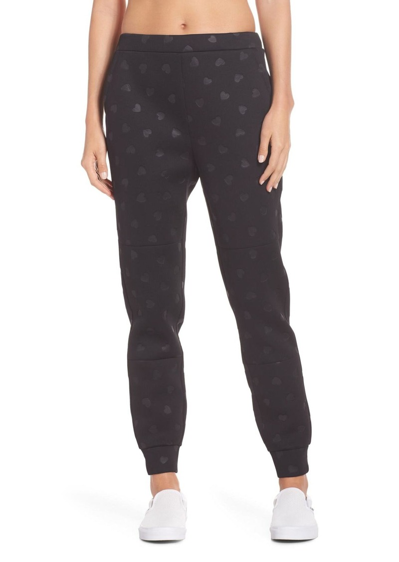 Kate Spade heart embossed jogger pants