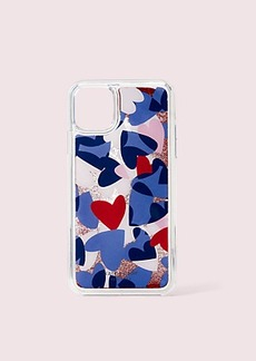 Kate Spade heart party liquid glitter iphone 11 pro max case