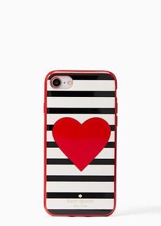 Kate Spade heart stripe iPhone 7/8 case