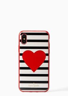Kate Spade heart stripe iPhone x case