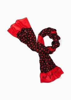 Kate Spade heartbeat oblong scarf