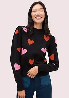 Kate Spade hearts mockneck sweater