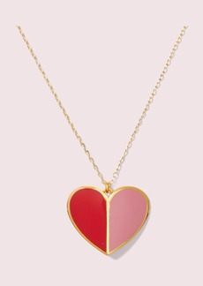 Kate Spade heritage spade enamel heart pendant