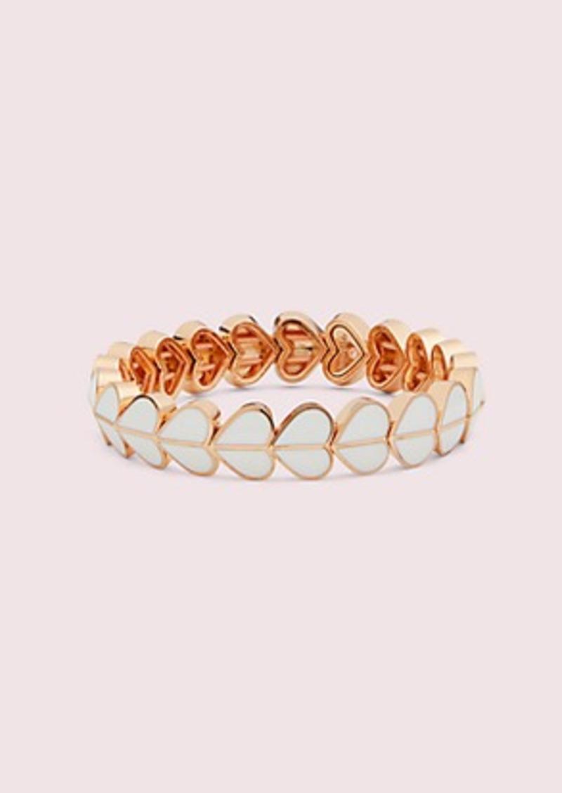 Kate Spade heritage spade enamel heart stretch bracelet