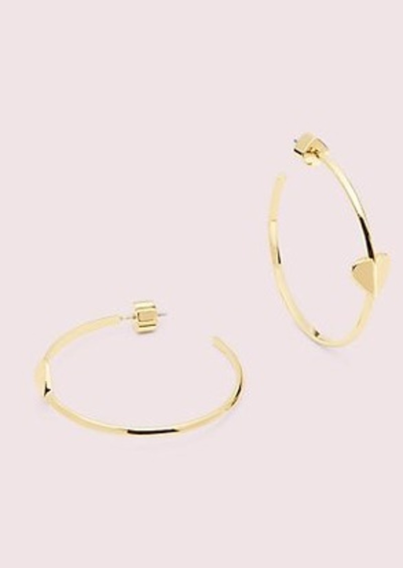 Kate Spade heritage spade metal heart hoops