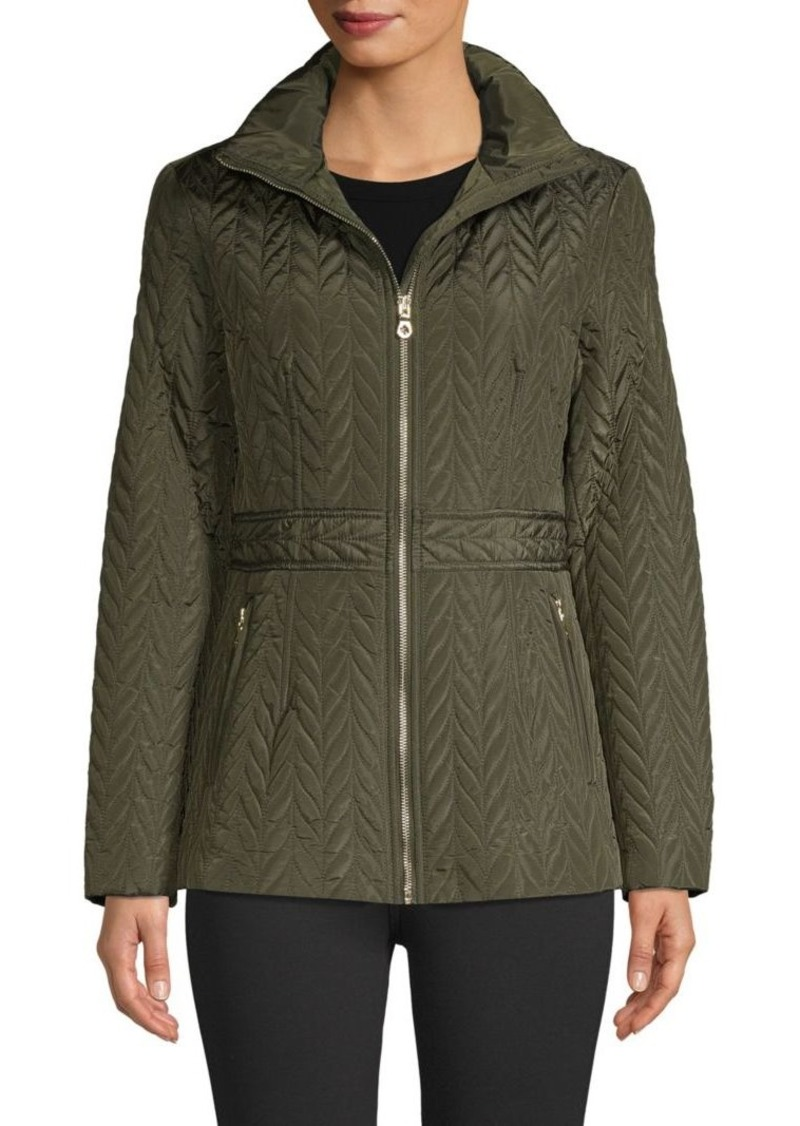 Kate Spade Herringbone Quilted Jacket