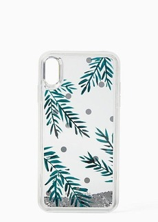Kate Spade holly liquid glitter iphone xs max case