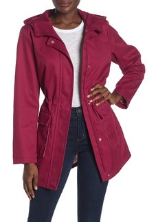 Kate Spade hooded water resistant trench coat